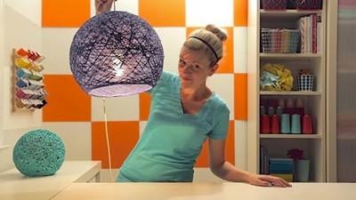 Jak zrobić z włóczki abażur na lampę lub żyrandol