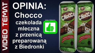Chocco czekolada mleczna z pszenicą preparowaną z Biedronki - opinia