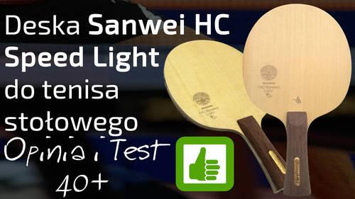 Deska Sanwei HC Speed Light do tenisa stołowego – Opinia i Test