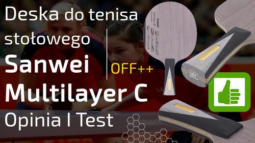 Deska do tenisa stołowego Sanwei Multilayer C  - Opinia I Test