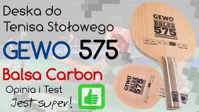Deska Gewo Balsa Carbon 575 do tenisa stołowego  – Opinia i Test