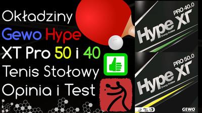 Okładzina Gewo Hype XT Pro do tenisa stołowego – Opinia i Test
