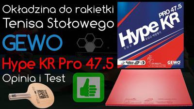 GEWO Hype KR Pro okładzina do tenisa stołowego – Opinia i Test