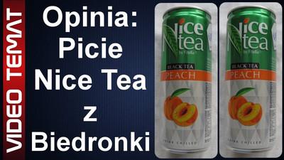 Napój herbaciany Nice Tea o smaku brzoskwiniowym - Opinia