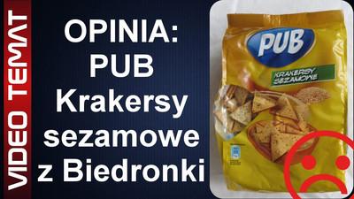 Krakersy sezamowe PUB z Biedronki - Opinia