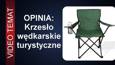 Składane krzesło na ryby - turystyczne - Opinia