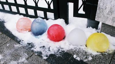 Jak zrobić kolorowe kule lodowe