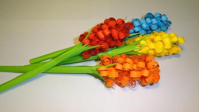 Jak zrobić kolorowe kwiaty z papieru - Quilling