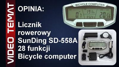 Licznik rowerowy SunDing SD-558A 28 funkcji - Opinia i Test