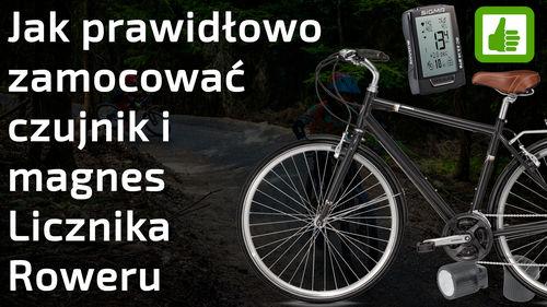 Jak założyć czujnik i magnes licznika roweru