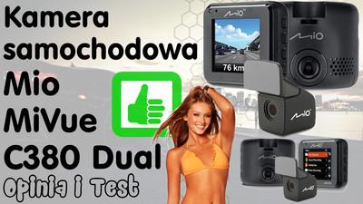 Kamera samochodowa Mio MiVue C380 Dual – Opinia i Test