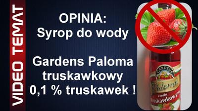 Syrop do wody Paloma o smaku truskawkowym - Opinia