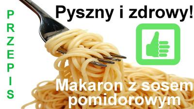 Przepis na makaron z sosem śmietano - pomidorowym