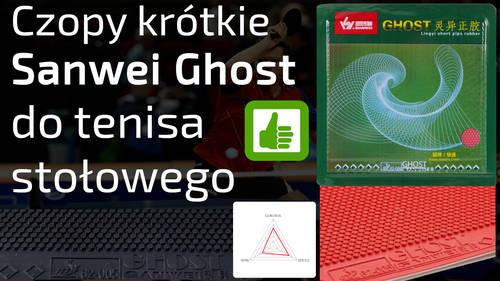 Czopy krótkie Sanwei Ghost do tenisa stołowego – Opinia I Test