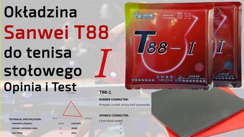 Okładzina Sanwei T88 do tenisa stołowego – Opinia i Test