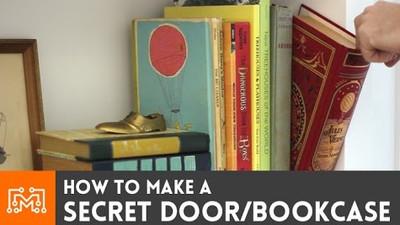 jak zrobić ukryte wejście w regale na książki