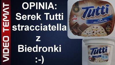 Serek Tutti stracciatella z Biedronki - Opinia