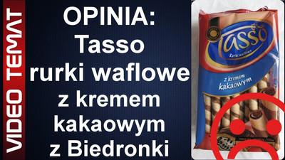 Tasso rurki waflowe z kremem kakaowym z Biedronki - Opinia