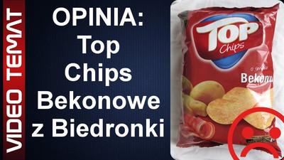 Top Chips o smaku Bekonu z Biedronki - Opinia