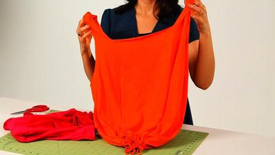 Sposób jak zrobić torbę z koszulki T-shirt
