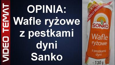 Wafle ryżowe z pestkami z dyni od Sonko - Opinia