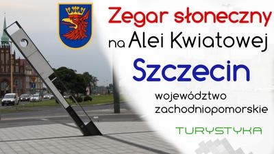 Zegar słoneczny na Alei Kwiatowej - Szczecin